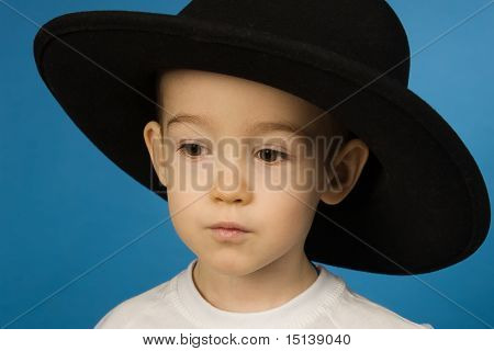 Baby In A Big Black Hat
