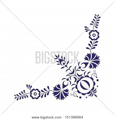 Traditional folk ornament symbol and simple vintage pattern vector illustration