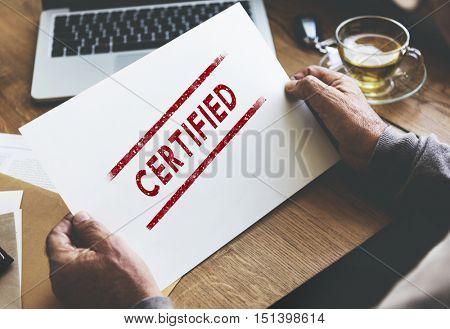 Certified Warranty Guarantee Insurance Assurance Concept
