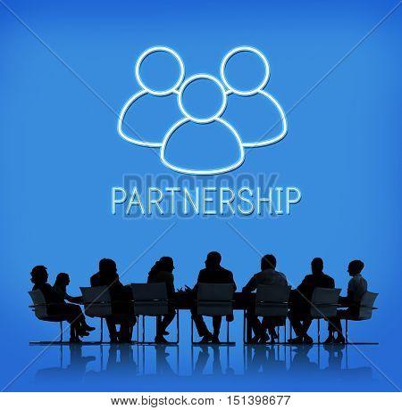 Partnership Teamwork Support Alliance Graphic Concept