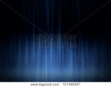 Blue lighting center graphic dark image background