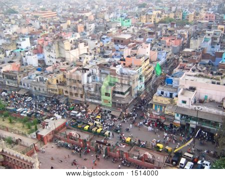 Aerial View Of The City, New Delhi, India