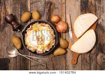 gratin with potato and cheese