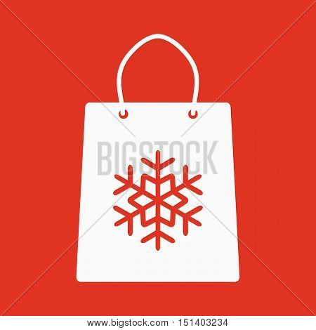 The shopping bag icon. Shopping bag. Flat. Vector illustration