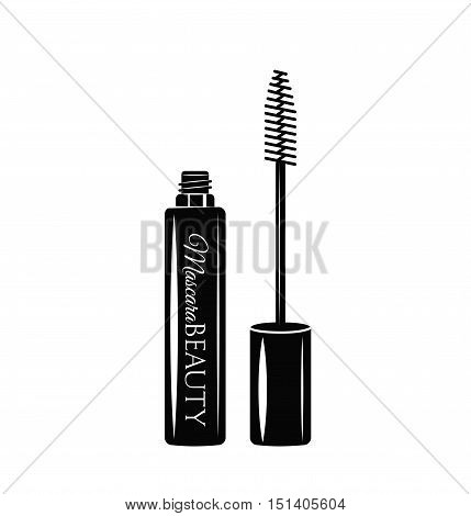 Mascara. Eye Makeup. The Beauty Industry. Vector Illustration. Isolated On White
