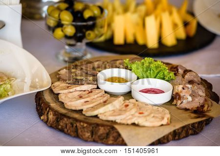 Served Meat Platter