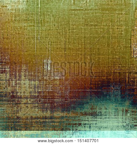 Grunge design composition over ancient vintage texture. Creative background with different color patterns: yellow (beige); brown; gray; green; blue; purple (violet)