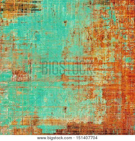 Colorful abstract retro background, aged vintage texture. With different color patterns: yellow (beige); brown; blue; red (orange); cyan