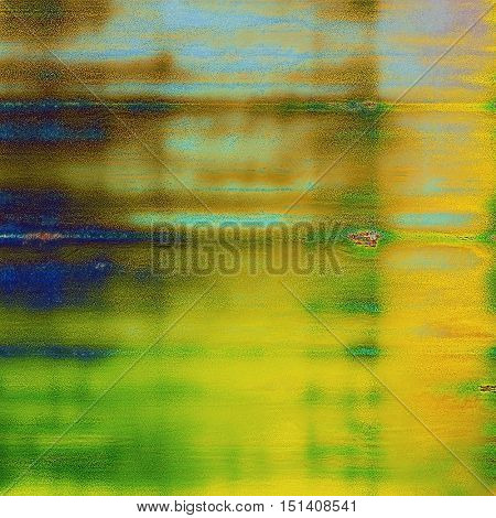 Ancient texture or damaged old style background with vintage grungy design elements and different color patterns: yellow (beige); brown; green; blue; cyan
