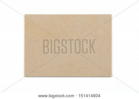 Empty kraft board texture on the white background