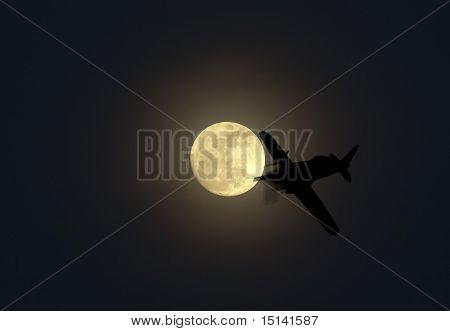 Lua e avião