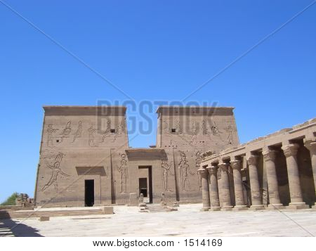 Philae Egyptian Temple And Its Hieroglyphs, Assouan, Egypt