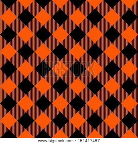 Halloween Seamless Pattern Lumberjack Plaid Textures. Perfect for Halloween projects. Trendy Lumberjack Flannel Shirt Inspired Hipster Style Backgrounds.