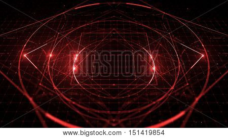Abstract Digital Background With Hight Detailed Elements.