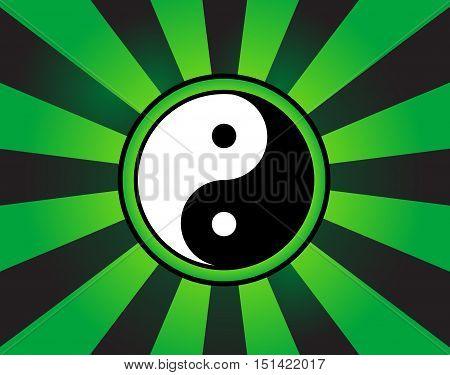Yin and yang symbol abstract background, vector illustration
