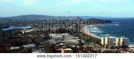 Narrabeen beach from Collaroy Plateau (Sydney NSW Australia)