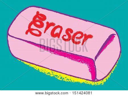 life past mistake eraser concept vector illustration