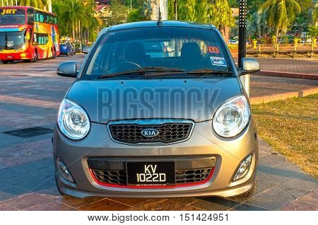 Langkawi,Malaysia-Mac 6,2015:Vehicles in Langkawi island on 6th March 2015.Government will be implementing Bank Guarantee on every duty free vehicles Langkawi island due to losses of unpaid tax.