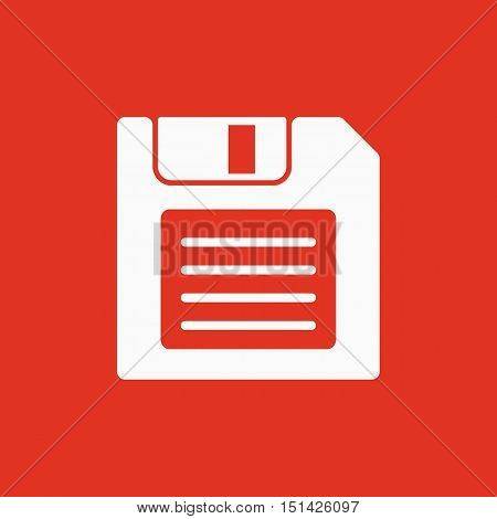 The floppy disk icon. Diskette symbol. Flat Vector illustration