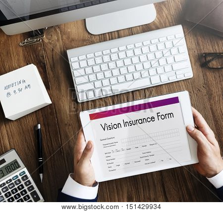 Vision Insurance Wellness Document Form Concept