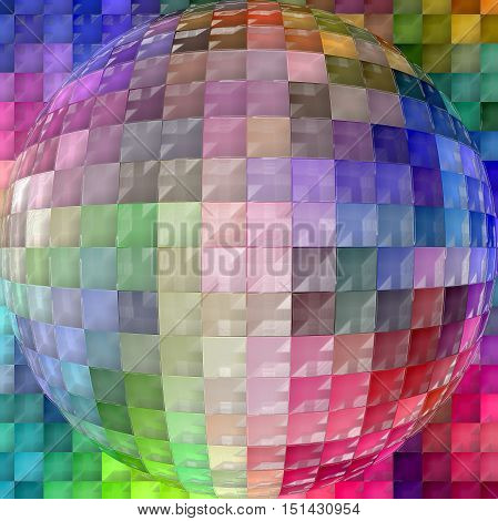 Abstract coloring background of the color harmonies gradient with visual spherize, lighting and plastic wrap effects