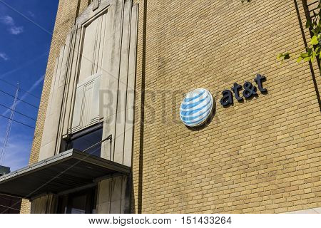 Kokomo - Circa October 2016: Downtown AT&T Central Office. AT&T now offers IPTV VoIP Cell Phones and DirecTV XIII
