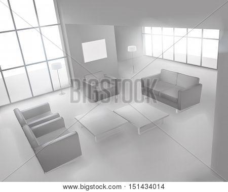 Living room. Vector illustration.