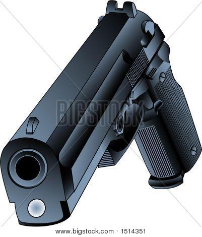 45 Caliber Gun Vector.Eps