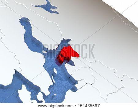 Estonia On Globe
