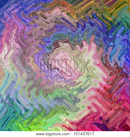 Abstract coloring background of the color harmonies gradient with visual spherize,wave,plastic wrap, lighting and twirl effects