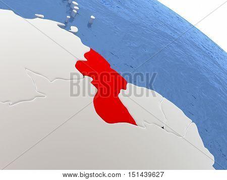 Guyana On Globe