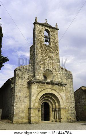 Church of Santa Maria de Porqueres XII century Romanesque Spain, Catalunya, Girona, Pla de l'Estany, Porqueres.