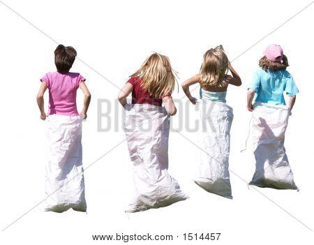 Sackhüpfen-Girls