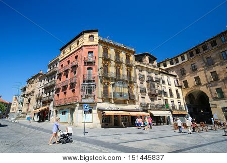 Plaza Del Poeta Iglesias In Salamanca, Spain
