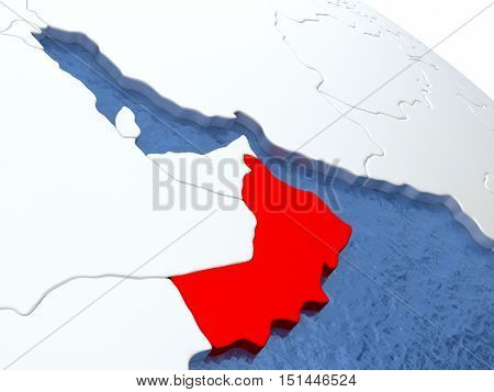 Oman On Globe