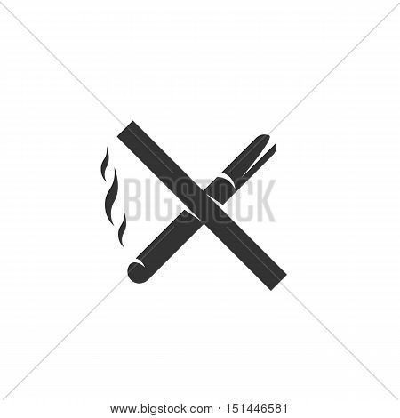 No smoking Icon isolated on a white background. No smoking Logo design vector template. Simple Logotype concept icon. Symbol, sign, pictogram, illustration - stock vector