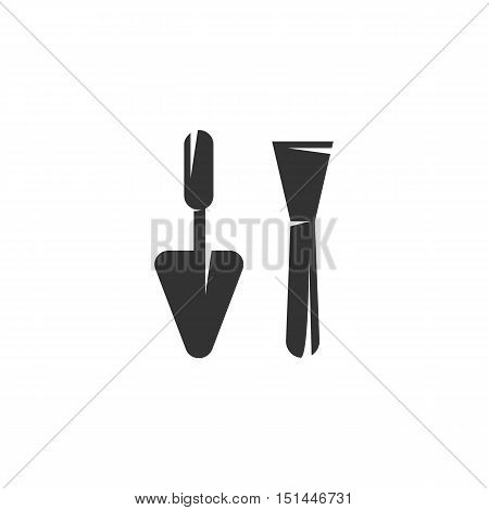 Trowel Icon isolated on a white background. Trowel Logo design vector template. Simple Logotype concept icon. Symbol, sign, pictogram, illustration - stock vector