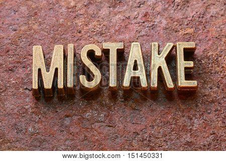Mistake Word Rust