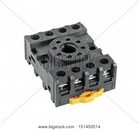8-pin Socket Terminal Electrical isolated on white background