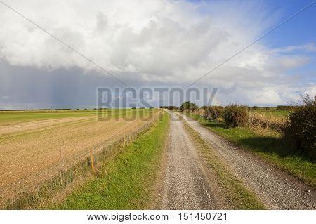 Limestone Bridleway With Rainbow