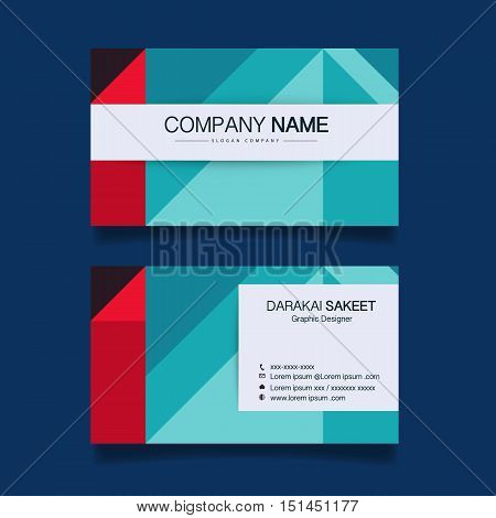 Name card, Modern simple business card template. Vector illustration