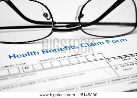 Formulário de requerimento de benefício de saúde