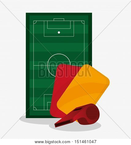 League icon. Soccer sport competition game and hobby theme. Colorful design. Vector illustration