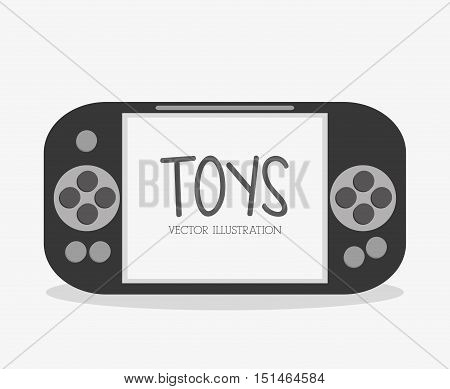 Videogame icon. Toy gift childhood play game and hobby theme. Colorful design. Vector illustration