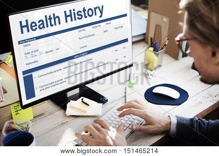 Health Check Form Claim History Record Concept