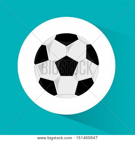 Ball icon. Soccer sport competition game and hobby theme. Colorful design. Vector illustration