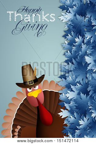 an illustration of Turkey for Thanksgiving Day