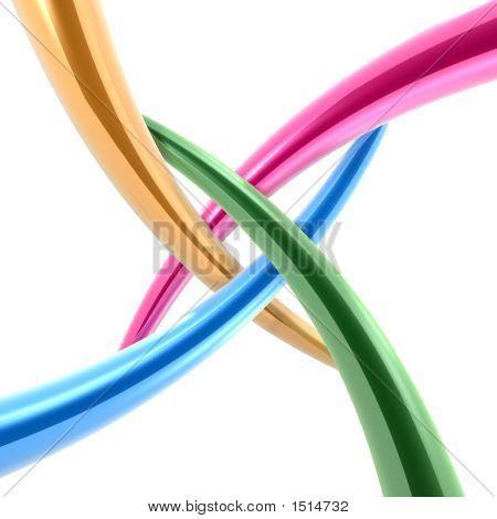 Eje de conexión de tuberías 3D