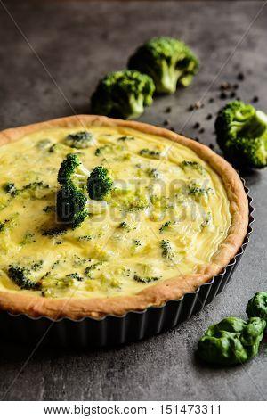 Broccoli Quiche With Cheese