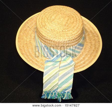 vintage straw boaters hat